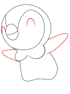How To Draw Piplup Pokemon Step 3