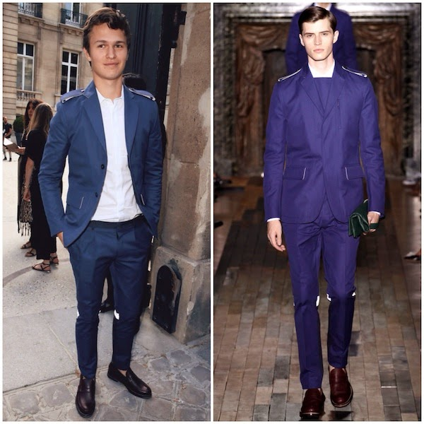 Ansel Elgort at Valentino show - Paris Fashion Week Menswear Spring Summer 2015