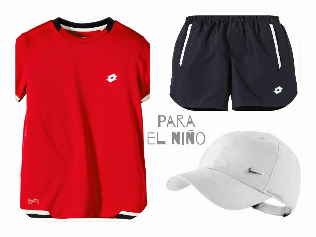 pantalones gorra y camiseta para tenis