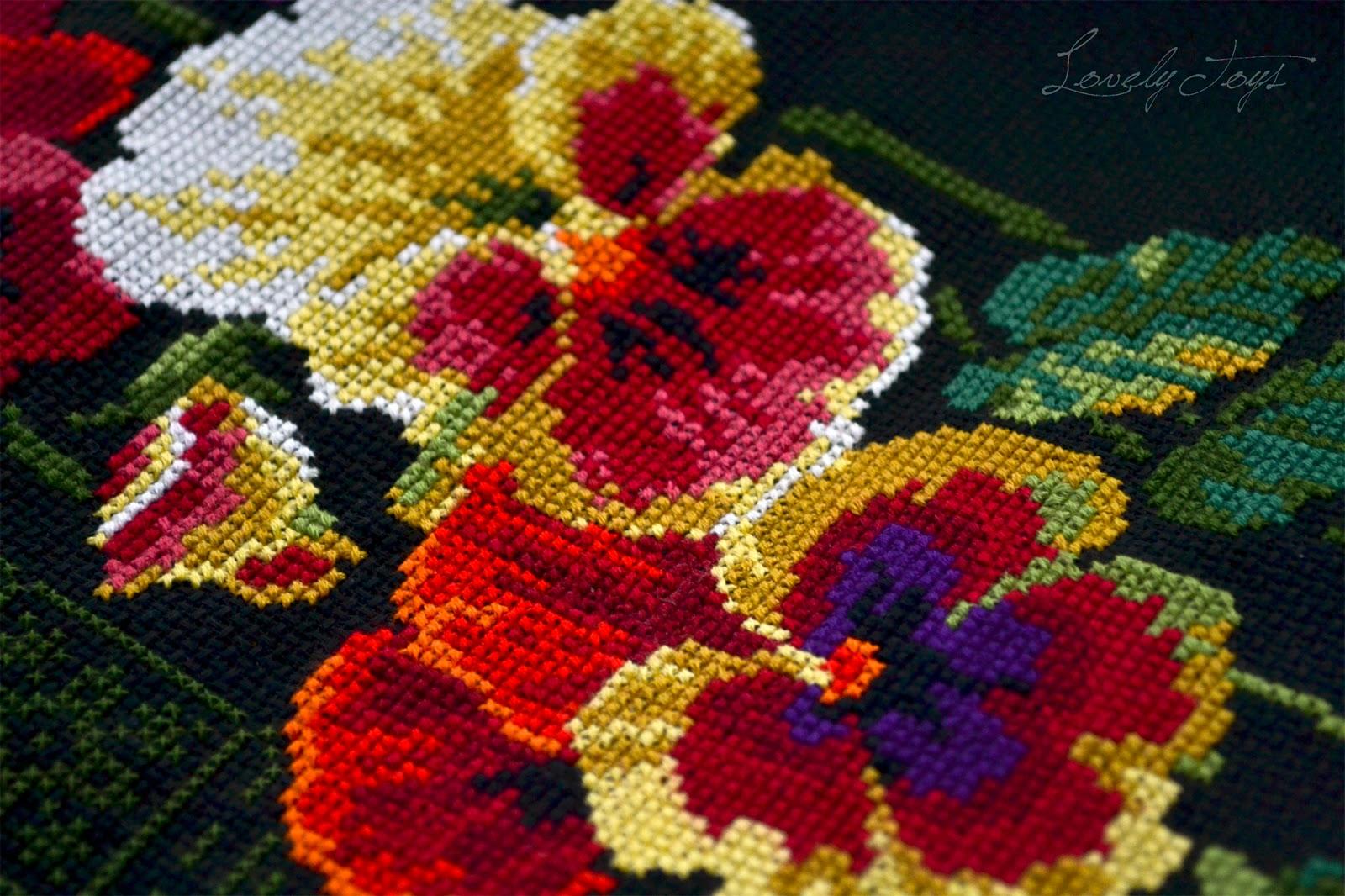 Схема вышивки калифорнийский мак риолис 65