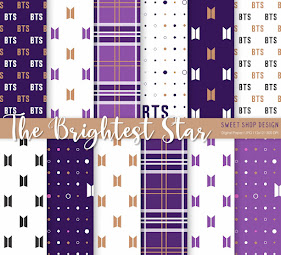 Digital Paper The Brightest Star BTS