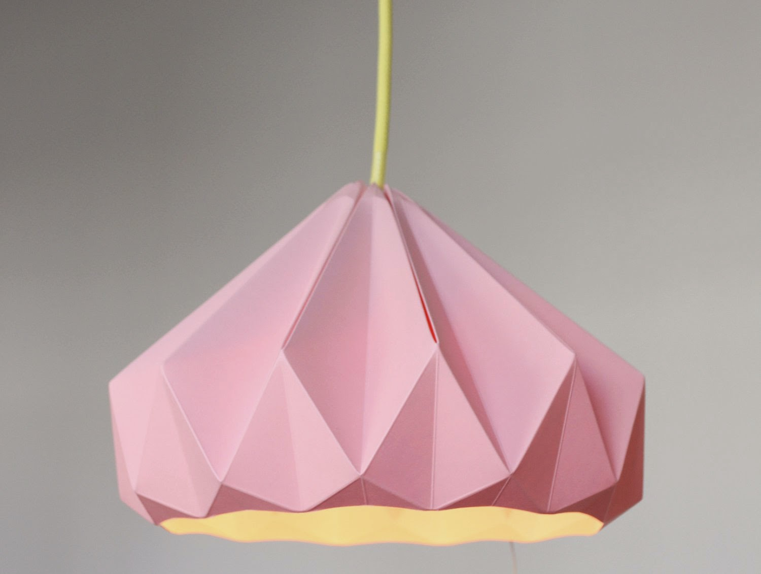 pink origami paper