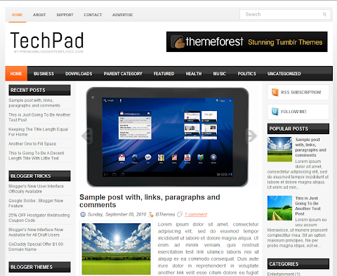TechPad Blogger Theme