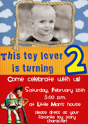 Toy Story Birthday Party Invitations for perfect invitations example