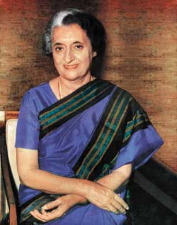 Colour Indira Gandhi Saree