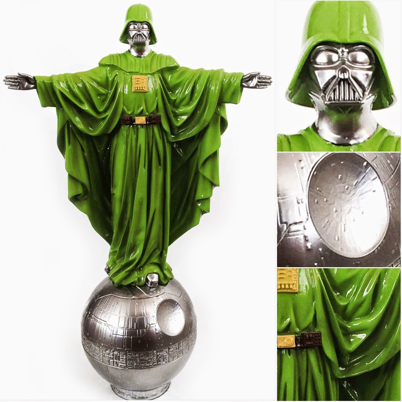 "Designer Con 2014 Exclusive Dr. Doom Edition ""Our Father"" Darth Vader Star Wars Resin Statue by Sket One"
