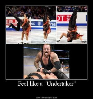 undertaker, feel, like, meme, patinaje, fallo, humor