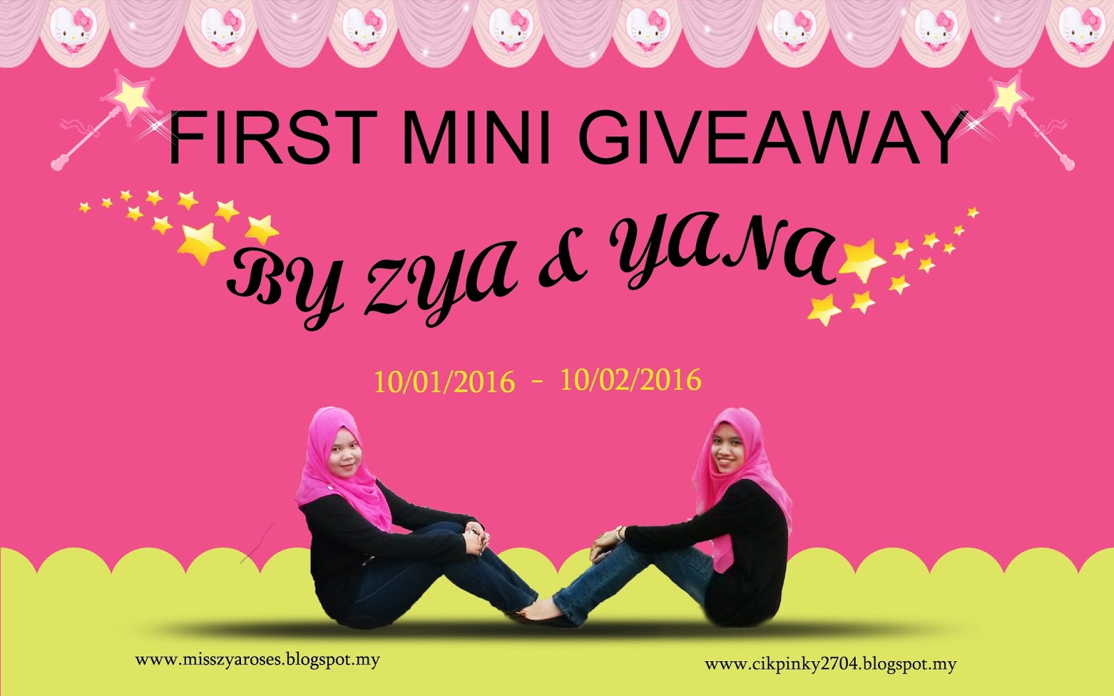 FIRST MINI GIVEAWAY BY ZYA & YANA