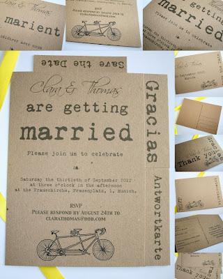 Jak z kartoteki - zaproszenie w stylu vintage