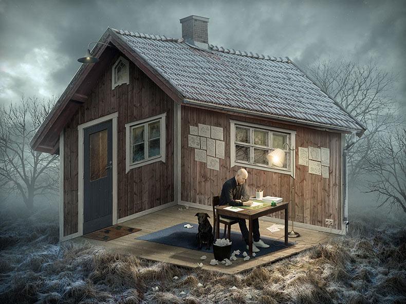 Alucinante Ilusiones ópticas por el artista sueco Erik Johansson