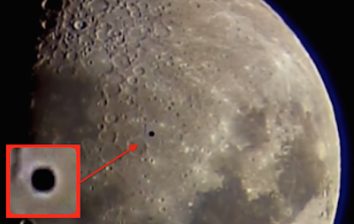 Black UFO Caught Near The Moon 2015, UFO Sighting News