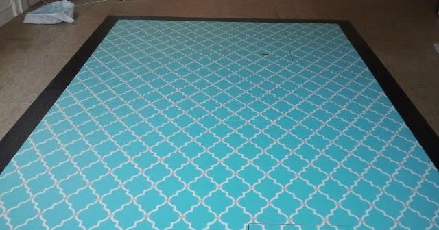 Painted Pressboard Floor