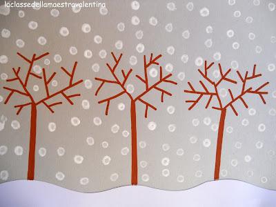 La classe della maestra valentina un pennello un po for Maestra gemma schede inverno