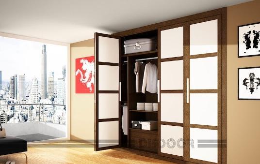 Fotos y dise os de puertas puerta corredera de madera for Disenos de puertas de madera para closets