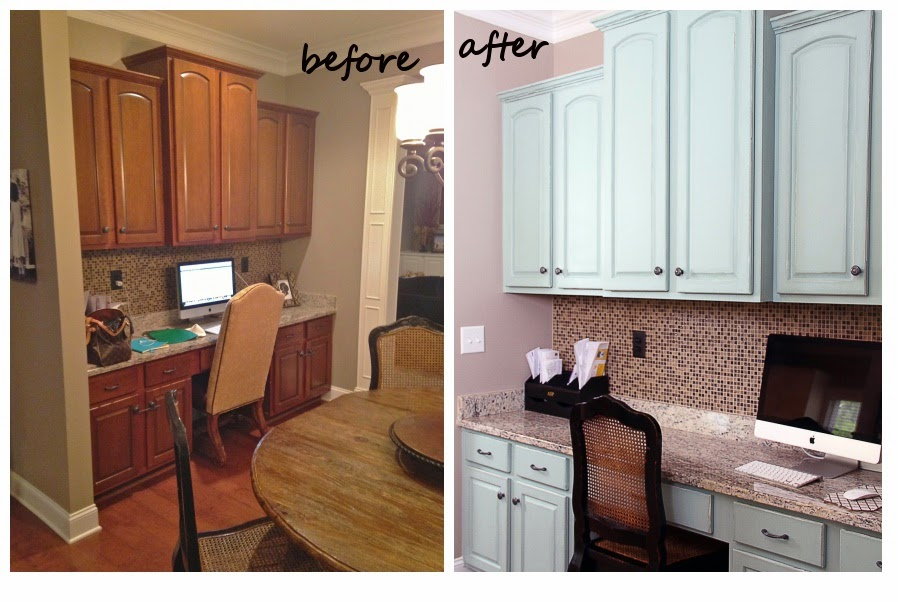 Cabinet refinishing 101 latex paint vs stain vs rust for Can i paint kitchen cabinets with chalk paint