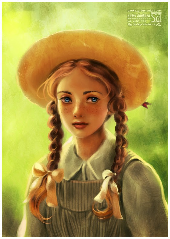 kami 39 s library thoughts fan art friday anne of green gables. Black Bedroom Furniture Sets. Home Design Ideas
