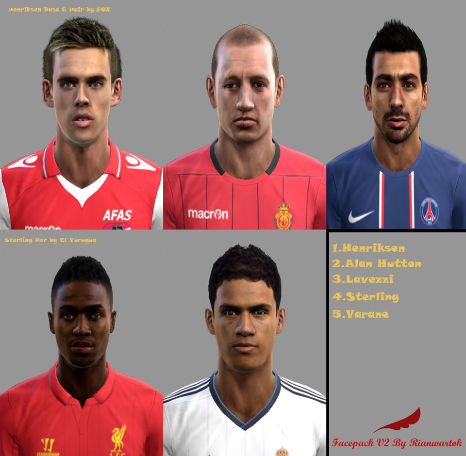 Download Facepack V2 by Rianwartok PES 2013