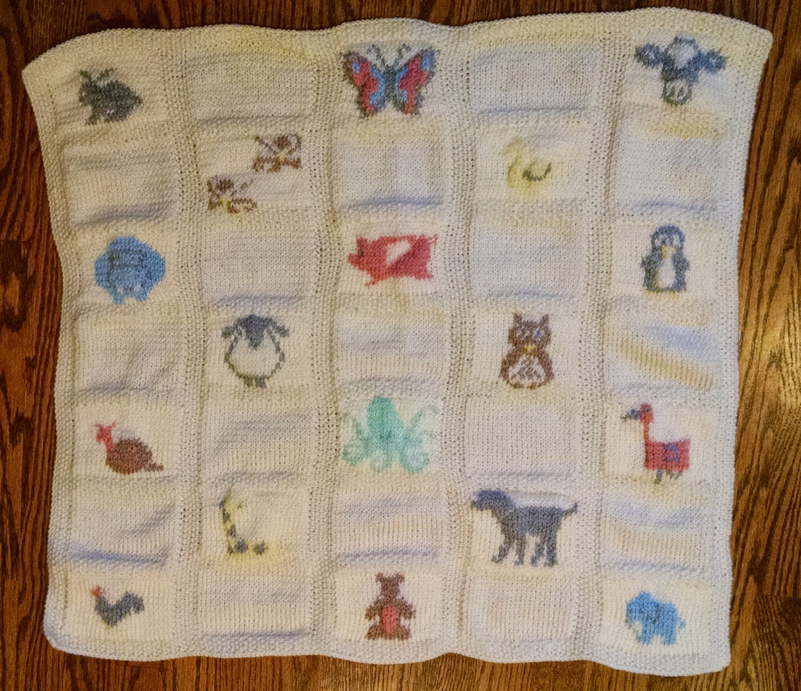 Pattern: Animal Parade Baby Blanket | Knit A Bit Crochet Away