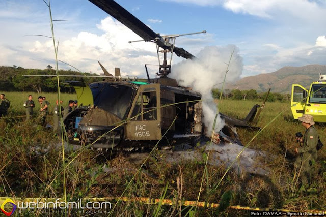 Accidente Helicoptero Tolemaida FAC4505