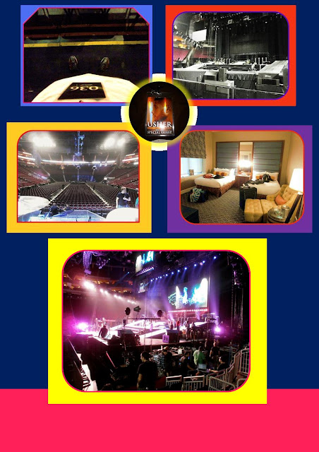 Backstage Pass, Hotel Room in Baltimore, Main stage, Brook's Drummer View, During Usher's Rehearsal