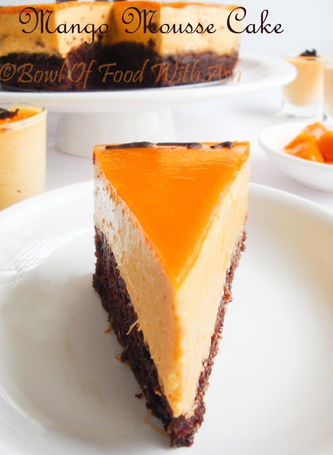 Eggless Mango Mousse Cake Recipe | Eggless Mango Mousse Cake