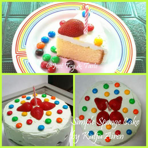 Simple Basic Sponge Cake JTT