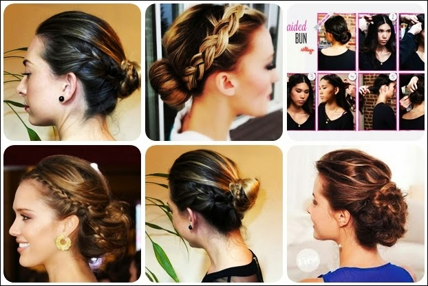 Day S Hairstyles Cute Easy Braided Bun Hairstyle For Long Hair