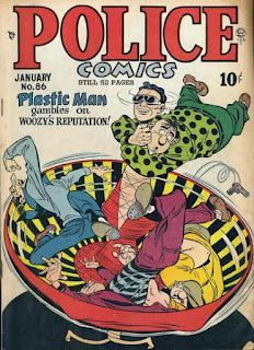 Police 86 cover: Plastic Man