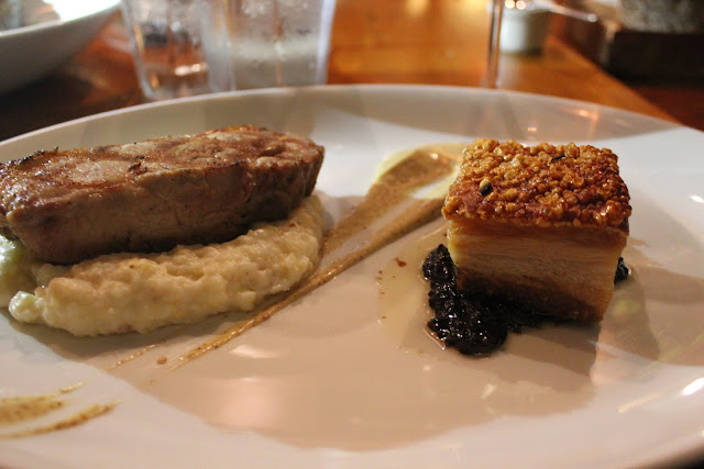 Pork duet at The Blue Room, Cambridge, Mass.