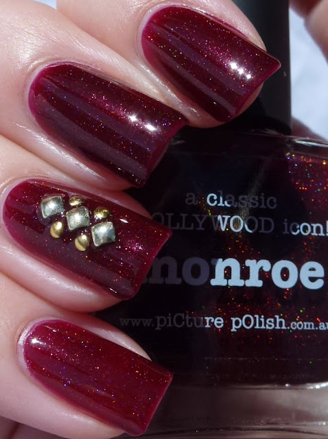 Monroe, Picture Polish, Studs, swatch