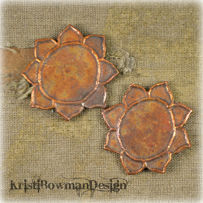 Handmade Copper Lotus Flower Kristi Bowman Design