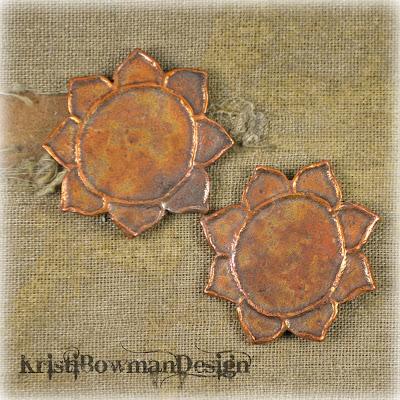 Handmade Copper Lotus Flower Kristi Bowman Design