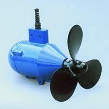 Hélice sumergible para generar electricidad para barco.