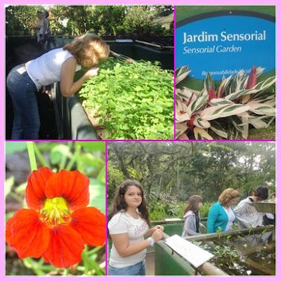 Jardim sensorial no Jardim Botânico