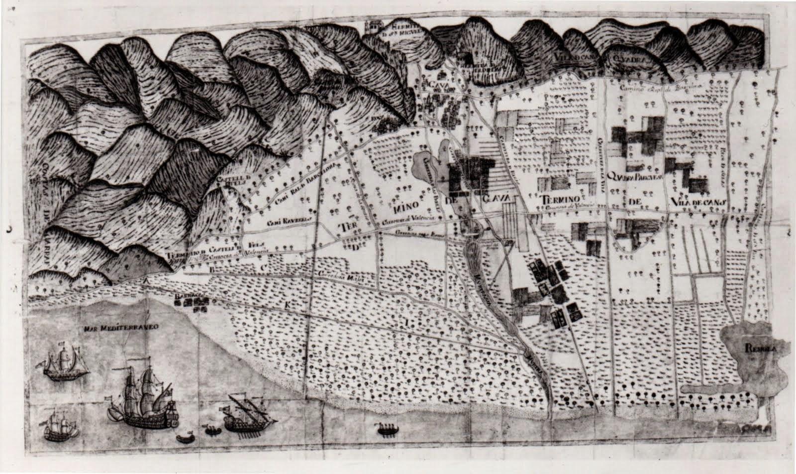 Mapa de la Baronia de l'Eramprunyà