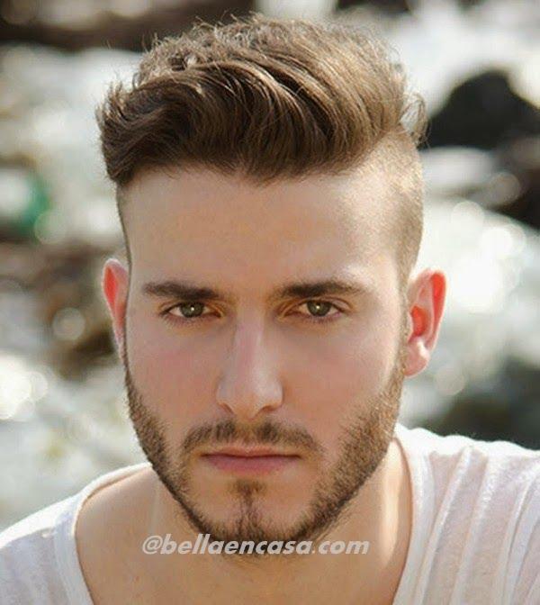 cortes de pelo de hombres con barba y raya de lado - Pelados De Moda