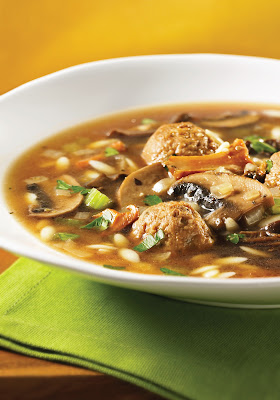 Wild Mushroom and Orzo Soup
