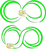. snake infinity symbol. Infinity series, options designed for B. P. Lee.