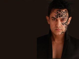 Aamir Khan Tattoo Design on Face