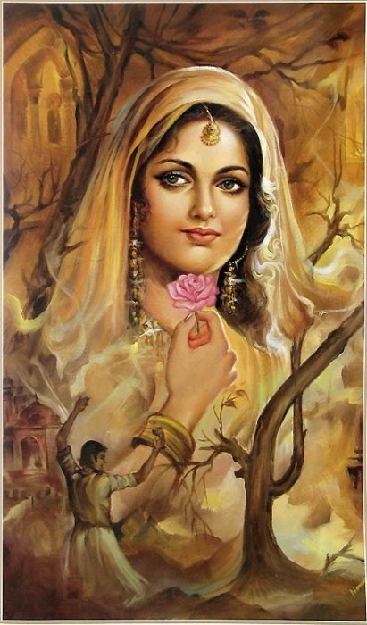 Rajasthani Girls Art Paintings 9