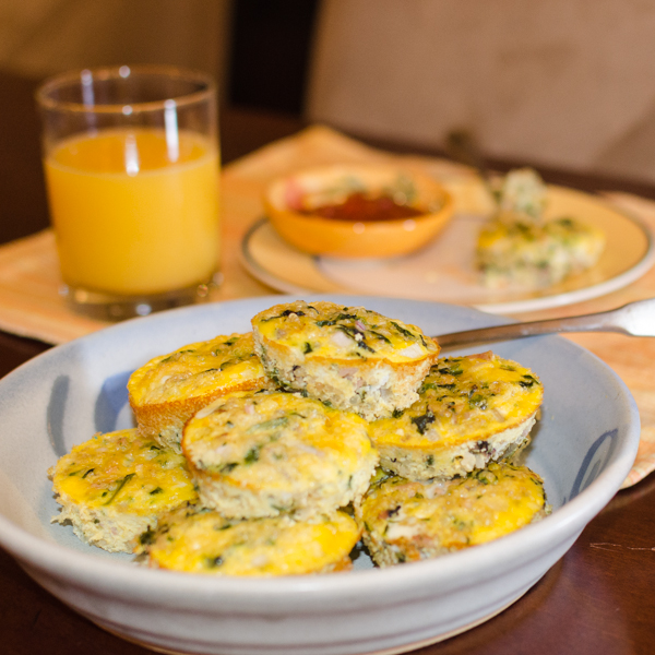 Spinach ham and egg quinoa cups simple awesome cooking spinach ham and egg quinoa cups forumfinder Images
