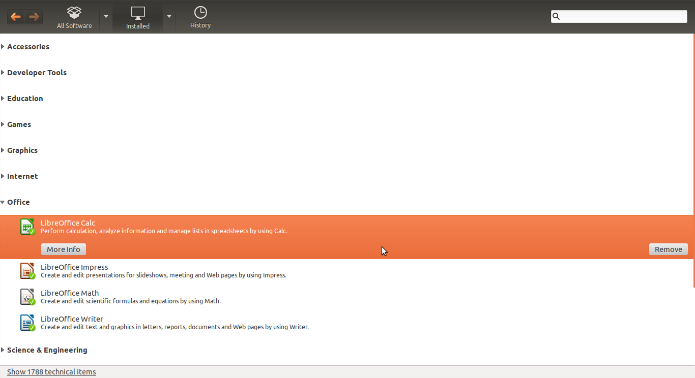 how to find application ubuntu