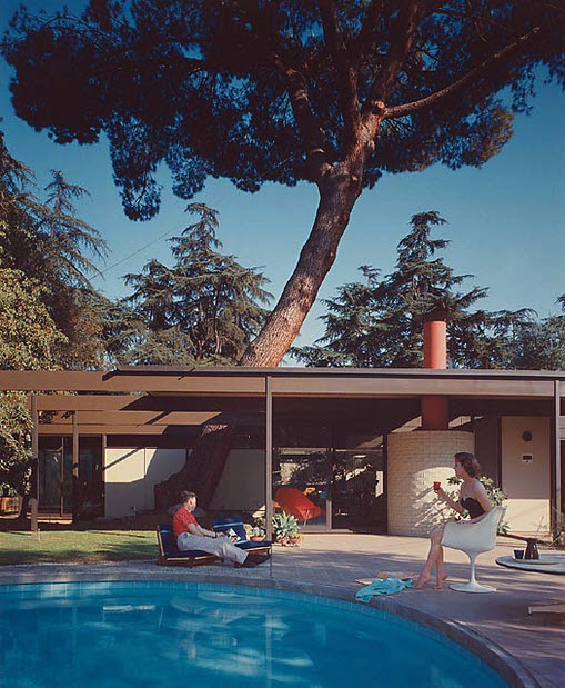 Case Study Home #20 / Bass House, 1958 Altadena, CA / Buff, Straub and Hensman, architects © Julius Schulman --