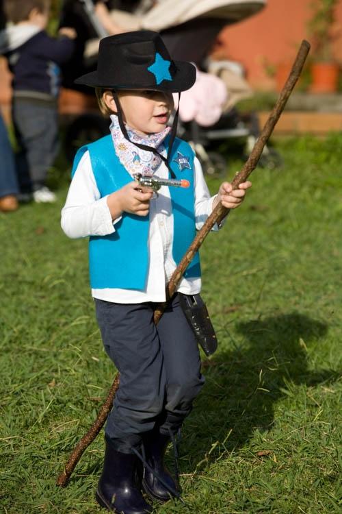 Disfraz para fiesta infantil de indios y vaqueros