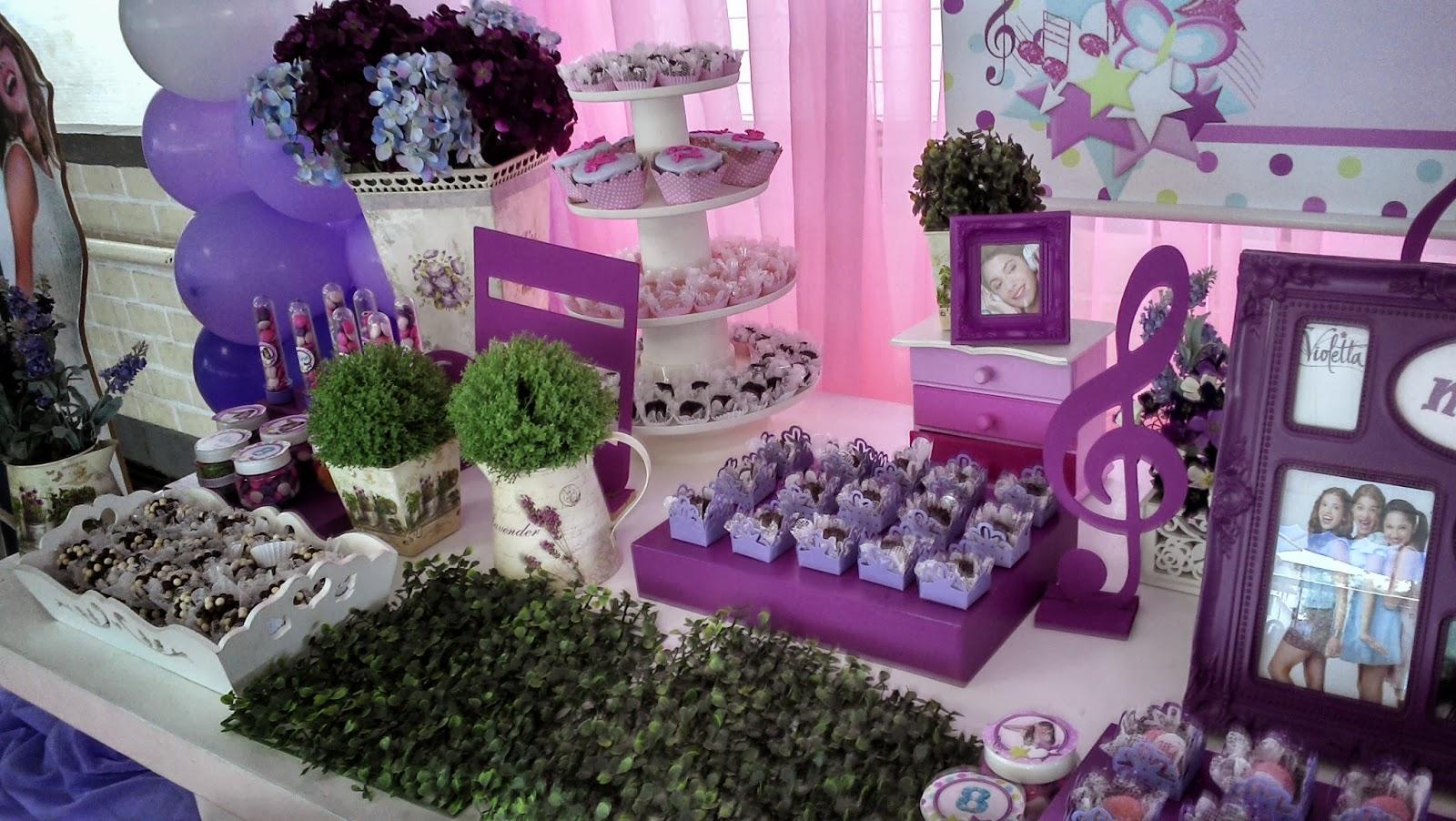 decoracao festa violeta:Novas fotos da festa da Violetta da Disney