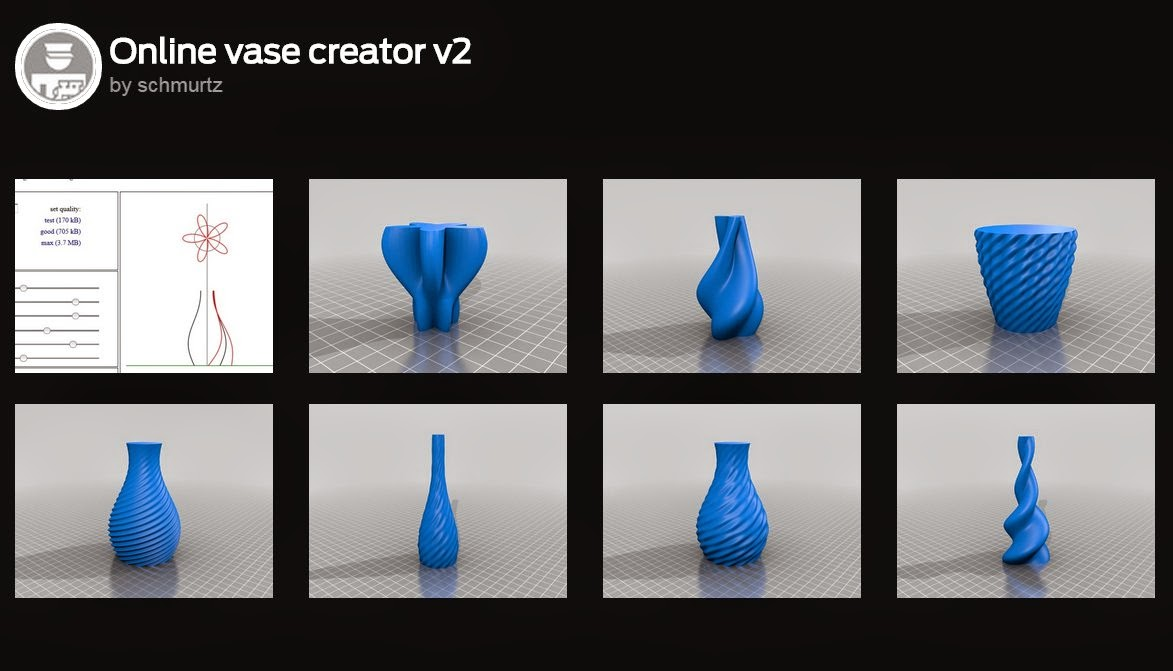 Picture of Online Vase Creator Tool