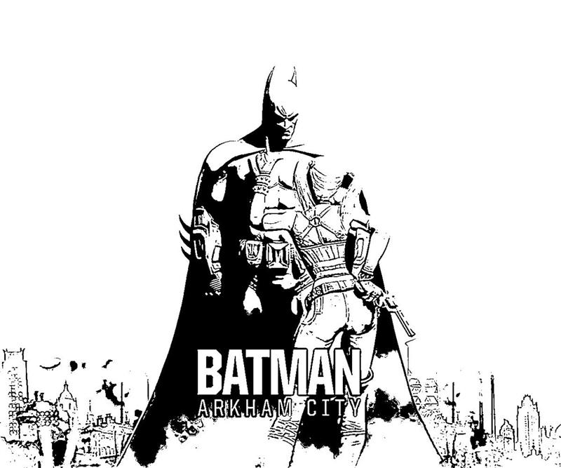 batman arkham city batman   catwoman yumiko fujiwara Batman The Dark Knight Coloring Pages  Batman Arkham City Coloring Pages