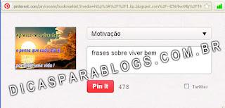 botão do Pinterest para blogs