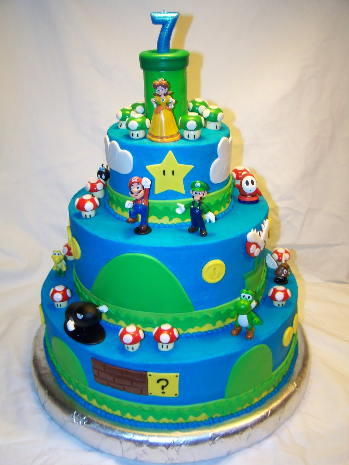 Cake Pictures For Brother : Events By Tammy: Jay s Super Mario Brothers Birthday Party