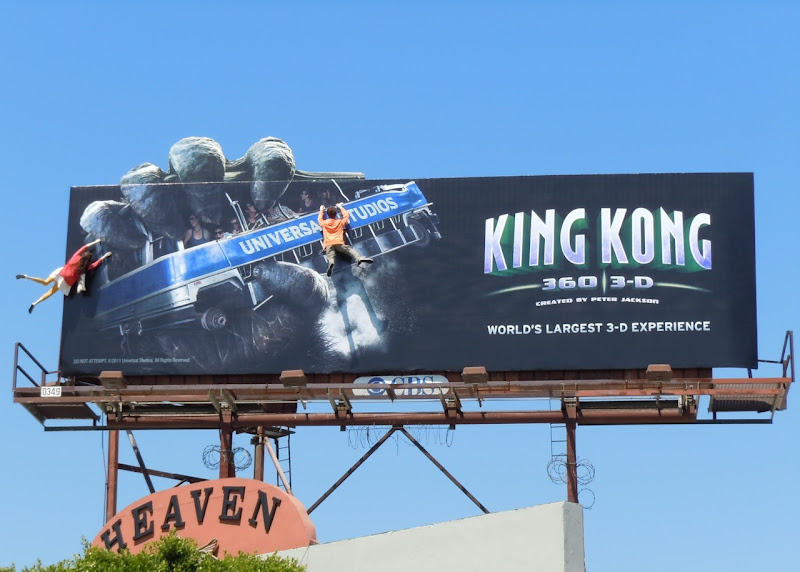 King Kong 360 ride billboard